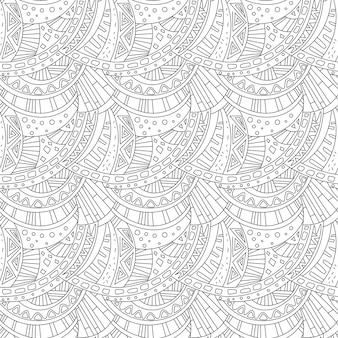 Seamless pattern zentangle ornament coloring book page