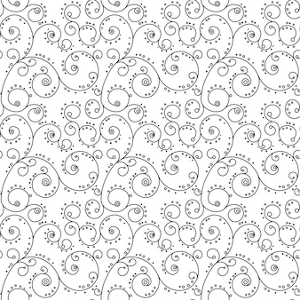 シームレスな模様Zentangle Ornament Coloring Book Page