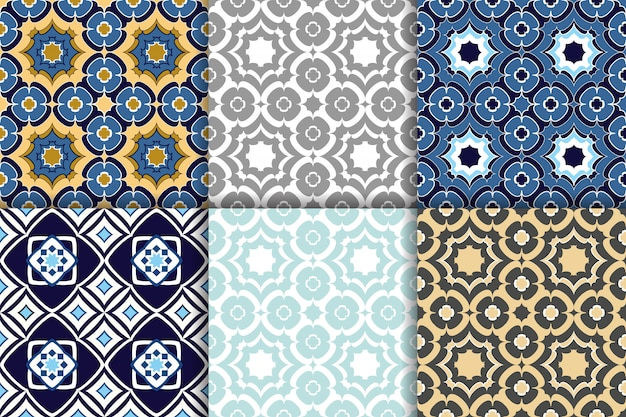 Seamless patterns arabic geometric ornament