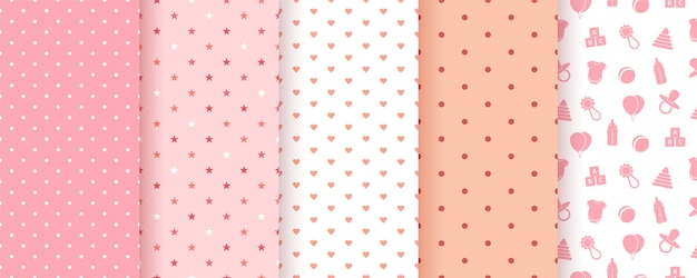 Seamless patterns for baby