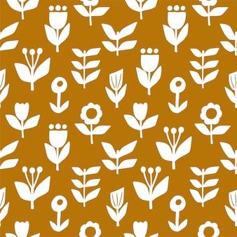 꽃 스타일에서 완벽 한 패턴입니다. 벡터 일러스트 레이 션