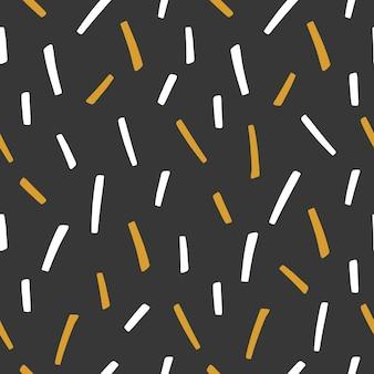 幾何学的な形をしたモダンな抽象的なスタイルのシームレスなパターン。ベクトルイラスト