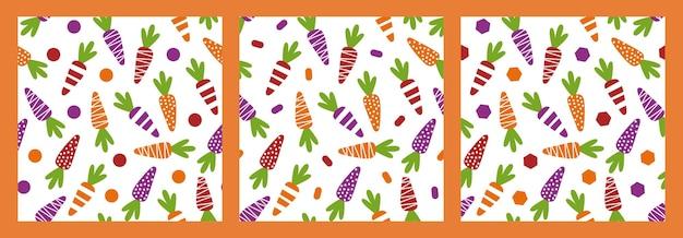 Бесшовные модели с морковью и геометрическими фигурами