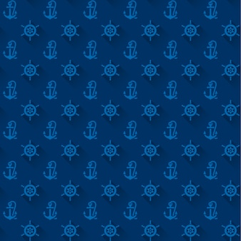 Seamless patterns with blue anchors
