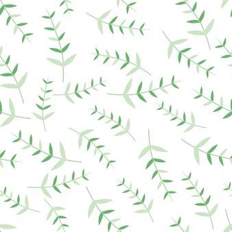 葉とのシームレスなパターンモダンな飾り