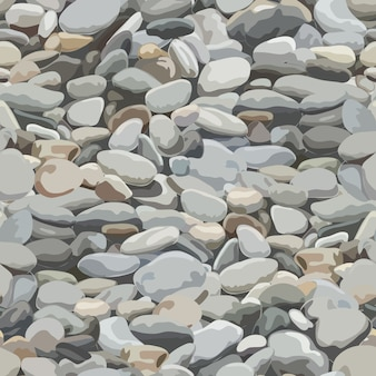 Seamless pebbles background for  and decorate.