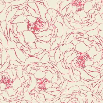 Seamless peony pattern