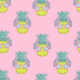 Seamless pineapple pattern