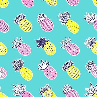 원활한 파인애플 여름 패턴