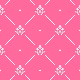 Seamless pink pattern decor design graphic.  for wallpaper