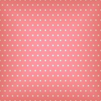 Бесшовный розовый узор с точками иллюстрации