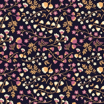 Seamless pink and white floral pattern