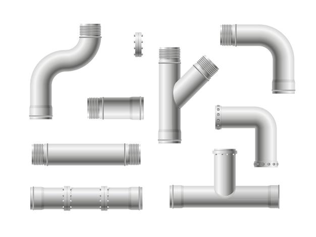 シームレスなパイプライン。現実的な水とガス工学の配管システム。
