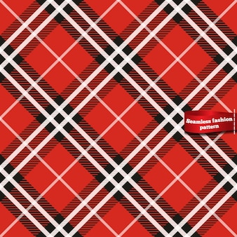 Seamless plaid pattern in red tones