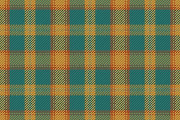 플란넬 셔츠, 담요, 던지기 또는 기타 현대적인 섬유 디자인을 위한 매끄러운 격자 무늬 패턴 벡터 배경.