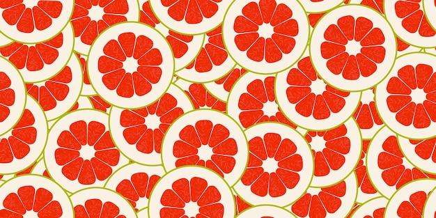 Бесшовный узор вектор помело. минималистичный пищевой фон. повторяемая текстура витаминов