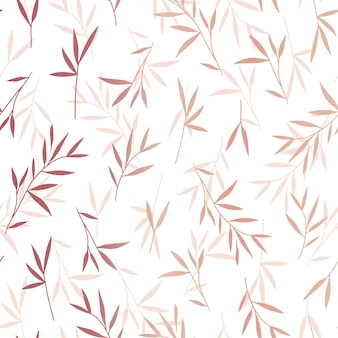 Seamless pretty rose gold bamboo leaves pattern