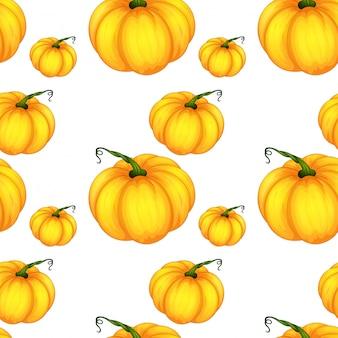 Seamless pumpkin  pattern tile cartoon