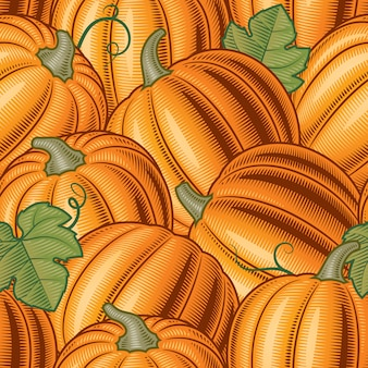Seamless pumpkin pattern