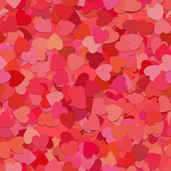 Seamless random heart pattern background