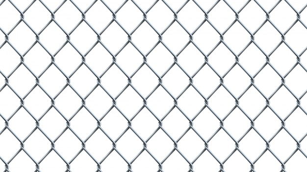 Seamless  realistic chain link fence background.