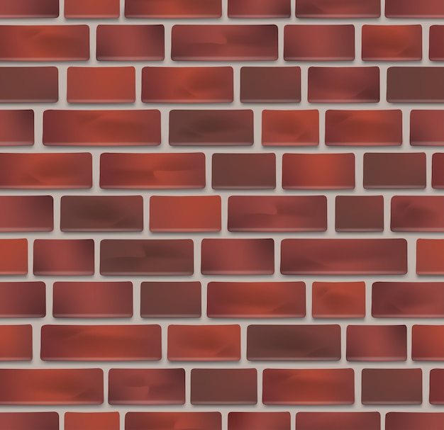 Бесшовные текстуры красного кирпича стены