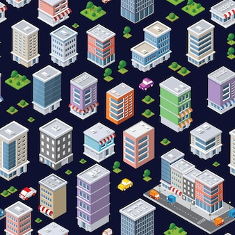 Seamless repeating pattern city