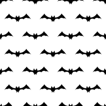Seamless repeating pattern with halloween symbols. design of silhouettes for the holiday halloween. for postcard, fabric, banner, template, wrapping paper. vector flat illustration.