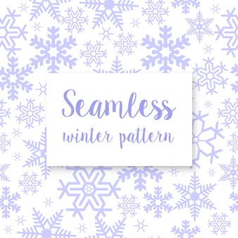 Seamless repeating winter