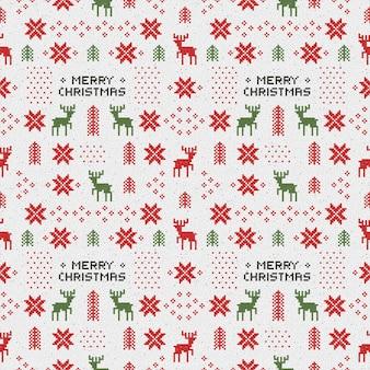 Seamless retro christmas pattern