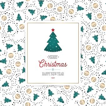 완벽 한 복고풍 골드 질감 크리스마스 패턴