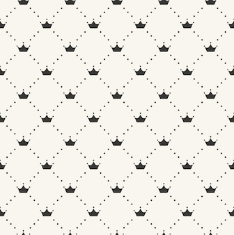 Seamless retro pattern, with crowns. can be used for wallpaper, pattern fills, web page background,surface textures