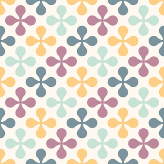Seamless retro pattern with flowers