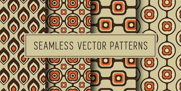 Seamless retro wallpaper set