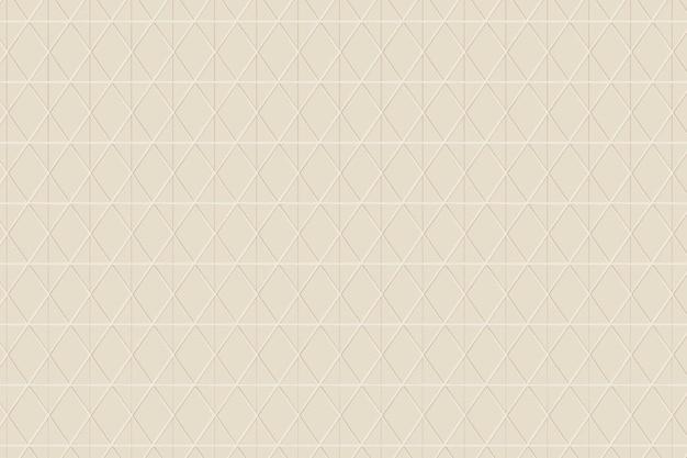 베이지 색 배경에 원활한 마름모 패턴