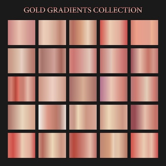 Seamless rose gold gradient collection