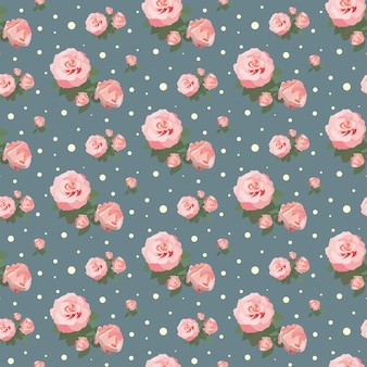シームレスなバラのパターンの花の背景ヴィンテージ花のデザイン