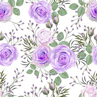 Seamless rose purple color pattern