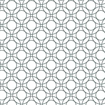 Seamless round geometric pattern
