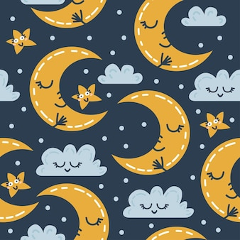 Seamless scandinavian weather pattern. vector illustration for kids. creative scandinavian background for textile, wrapping paper, greeting cards or posters. one of 12
