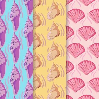 シームレスな貝殻パターンser