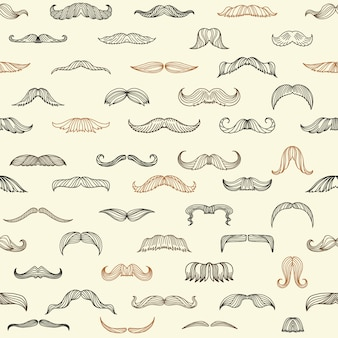 Seamless set with mustache of men