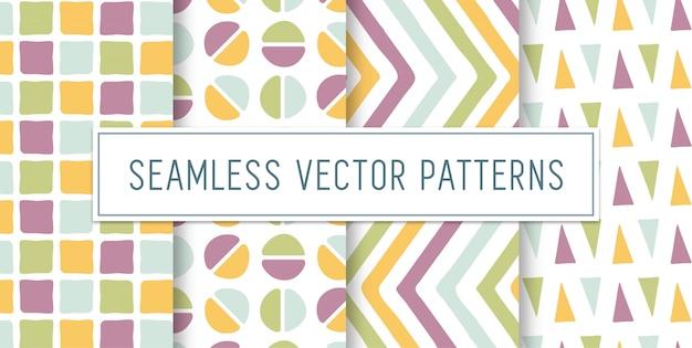 Seamless shape pattern set