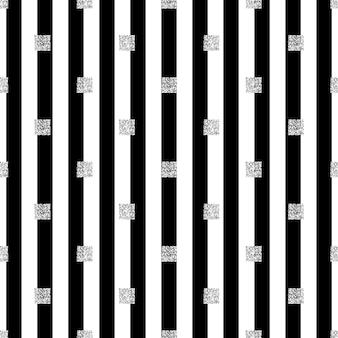 Бесшовный серебряный квадратный блеск на фоне полосы