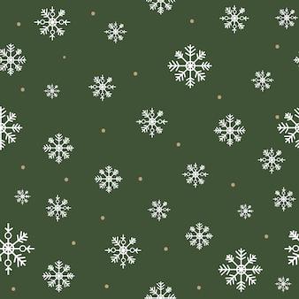 シームレスな雪片のパターン