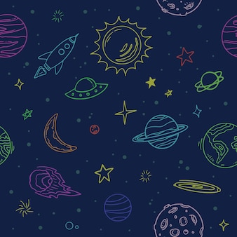 Seamless space colorfulpattern background