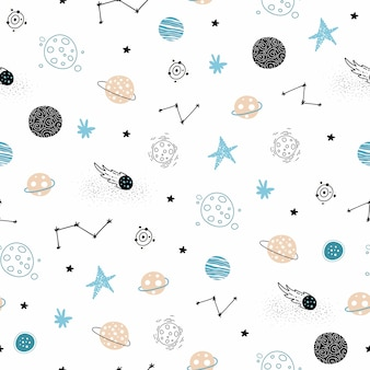 Seamless space pattern.