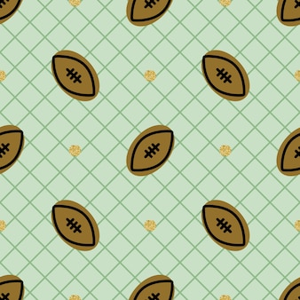 Seamless sport pattern background with rugby