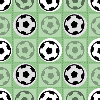 Seamless sport pattern on green background from soccer