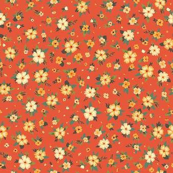 직물에 대 한 원활한 봄 꽃 패턴